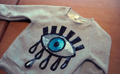 Children's Sequined Eyes Sweatshirt