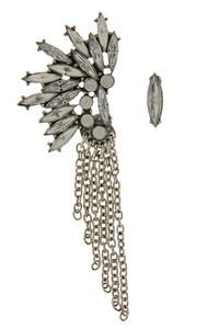 Feathered Chain Earring Set in Silver