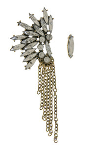 Feathered Chain Earring Set in Gold