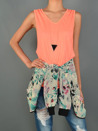 Coral Muscle Tank
