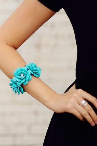 Turquoise Rosette Bracelet