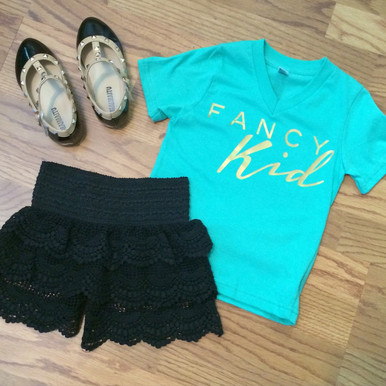 Kids Lace Crochet Shorts