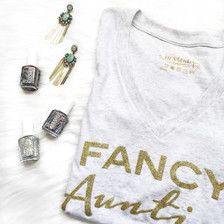 Spoil her.  Auntie Sparkly TShirt, Fancy Apparel for Any Occasion, Birthdays , Baby Shower, Special Aunt Gifts