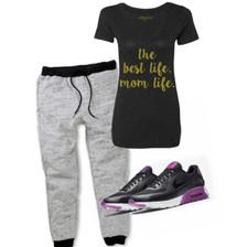 Gym tee for moms.  Mom Life