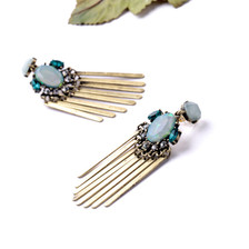 Statement Earrings with Gold Tassels