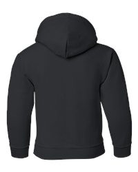 Kids Size 7-16 Hooded Sweatshirt Back View - Print will be on back