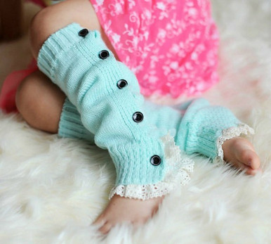 Button Up Legwarmers with lace