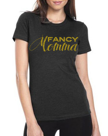 Fancy Momma Crew Tee in Black.  Comfy tee feels like you've owned it for years the moment you put it on.