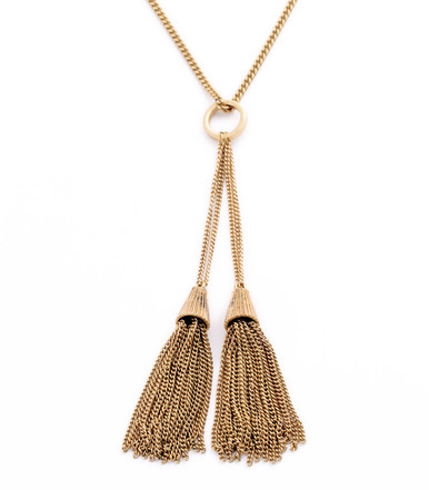 Double Tassel Y Chain - Long Necklace