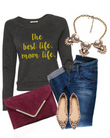 Mom Life is the Best Life tee, #Momlife Shirt, Momlife, Best Life Ever, Mom Life TShirt, The Best Life Mom Life, Motherhood, Pregnancy Tee Outfit
