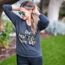 Mom Life is the Best Life tee, #Momlife Shirt, Momlife, Best Life Ever, Mom Life TShirt, The Best Life Mom Life, Motherhood, Pregnancy Tee