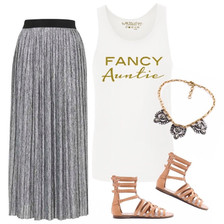 Exclusive Fancy Auntie White Tank Top Outfit.  Auntie Sparkly TShirt, Fancy Apparel for Any Occasion, Birthdays , Baby Shower, Special Aunt Gifts