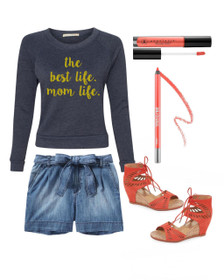 1108 Boutique Mom Life Sweatshirt Summer Sweatshirt