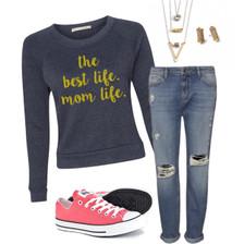 1108 Boutique Mom Life Sweatshirt Casual Sweatshirt