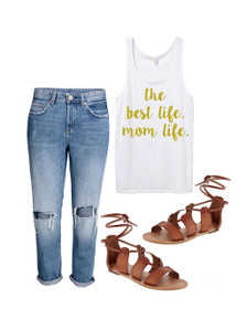 1108 Boutique Mom Life Sweatshirt Casual Tank Top