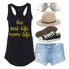 Mom Life is the Best Life.  Vacation or Beach Outfit.