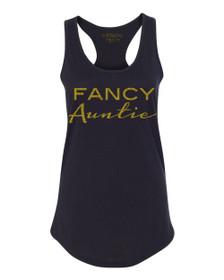 Exclusive Fancy Auntie Racerback Tank in Black