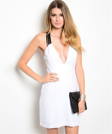 Arielle Bodycon Dress with plunging neckline