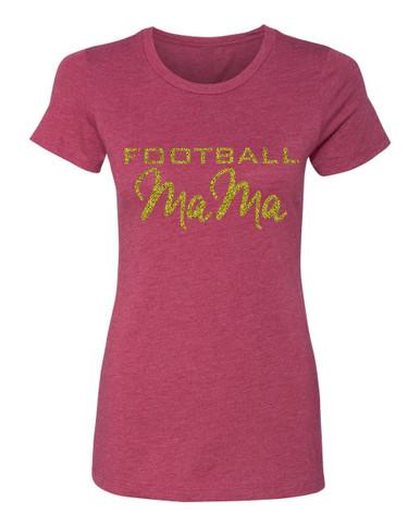 Football Mama Crew Neck Tee
