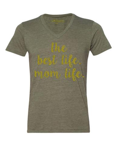 Mom Life is the Best Life Tee.  Motherhood T-shirt.  Pregnancy Top.