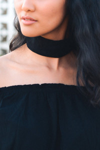 Thick Black Choker