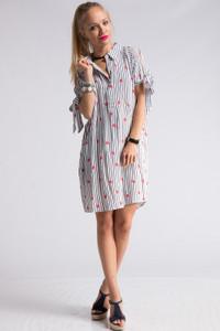 Lips Print Shirt Dress for Lipsense Presentations