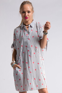 Lips Print Shirt Dress for Lipsense Photoshoots