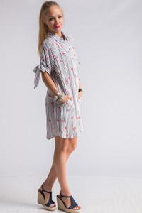 Lips Print Shirt Dress for Lipsense Marketing