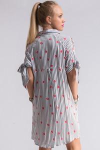 Lips Print Shirt Dress for Lipsense Lives