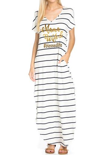 Mama, Wife #Blessedlife Maxi Dress