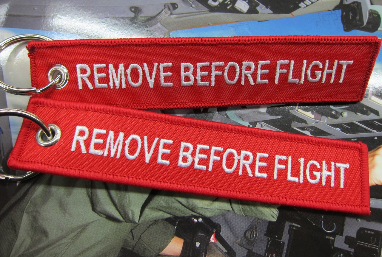 Img on Remove Before Flight Key Tag
