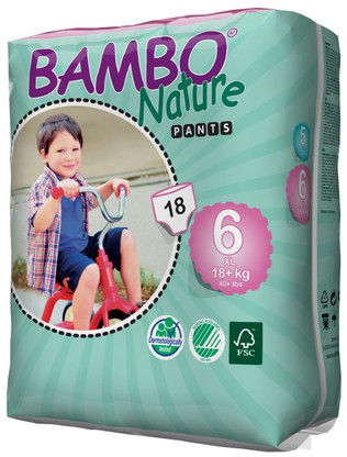 Eco Disposable Training Pants for 18+ kgs from Bambo Nature