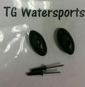 Sundolphin Kayak Bungee Button Kit, 2 Pack