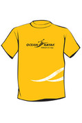Ocean Kayak T-Shirt, Yellow, Size : X-LG