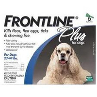 Frontline Plus For Dogs-Medium Dog (23-44 lbs) (10-20 kg) 3Pk