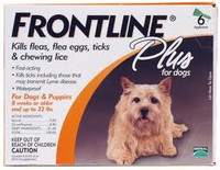 Frontline Plus For Dogs - Small Dog (up to 22 lbs) (0-10 kg) 3Pk