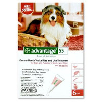 Advantage-4pk (Red) Large Dog 21-55 lbs (9.5-25 kg)