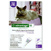 Advantage-4pk (Purple) Large Cat 10-18 lbs (4.5-8 kg)