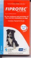 Fiprotec Spot-On - 6 pack: Medium Dog: 22-44 lbs (10-20 kg)