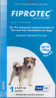Fiprotec Spot-On - 3 pack: Small Dog: up to 22 lbs (up to 10 kg