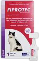 Fiprotec Spot-On - 6 pack: Cats: up to 18 lbs (up to 8 kg)