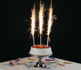 Premium Cake Sparklers - 6 inch