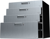 "Hercke Quadro Storage Drawer Cabinet  (30"" wide / 30"" tall / 24""deep) Stainless Steel (S-72)"