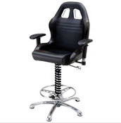 PitStop Furniture Crew Chief Bar Chair (BLACK)