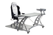 PitStop Grand Prix Complete Office Furniture Set - CLEAR Desk