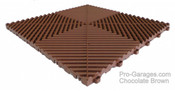 "Ribtrax ""Chocolate Brown"" Tile SALE PRICE ONLY $3.96 PER SQ FT - Size: 15 3/4"" x 15 3/4"" (1 Tile = 1.72 sq ft)"