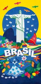Toalha de Praia - Brasil 03 / Beach Towel - 76cm x 1,52m