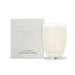 Peppermint Grove Large Candle 350g - Fresh Sage & Ceder