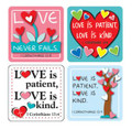 Love Verses Scripture Stickers
