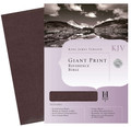 Bible KJV Giant Print Reference Genuine Leather - Burgundy